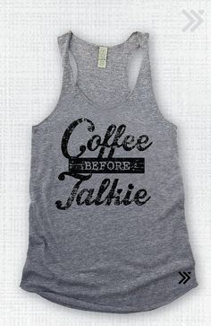 Coffee sponsered Eco Tank by everfitte on Etsy, $26.00 ..Sandy definitely needs this ha !!!