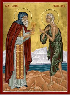 Mary of Egypt and St. St Mary Of Egypt, Prophetic Art, Byzantine Icons, Icon Collection, Religious Icons, Orthodox Icons, Sacred Art, Religion, Orthodox Christianity