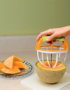 Perfect slice melon cutter!