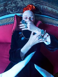 Tilda Swinton channels Dame Edith Sitwell for W Magazine photographed by Tim Walker and styled by Sara Moonves. Tilda Swinton, Artistic Fashion Photography, Photography Women, Editorial Photography, Glamour Photography, Lifestyle Photography, Photography Pics, Wedding Photography, W Magazine