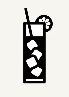 Icon Prints: Drinks Serie on Behance Machine Silhouette Portrait, Silhouette Vinyl, Silhouette Machine, Silhouette Cameo Projects, Silhouette Images, Silhouette Files, Silhouette Design, Tampons, Svg Cuts