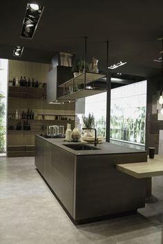 Cucina laccata in rovere con isola NANTÌA ROVERE BIANCO Collezione ...