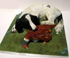 gundog and pheasant cake happyhills cakes