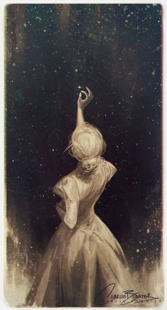 """Though my soul may set in darkness, it will rise in perfect light;<br/> I have loved the stars too fondly to be fearful of the night.""<br/> <br/> Artwork based on The Old Astronomer by Sarah Williams"
