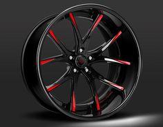 Custom - black and red finish.