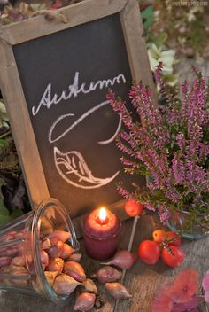 Welcome autumn outdoors candles autumn country