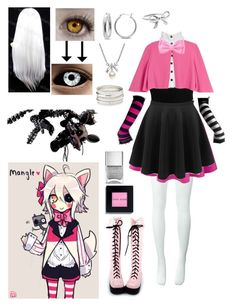 FNaF Mangle Cosplay Source by nellxluke outfits Cute Emo Outfits, Edgy Outfits, Pretty Outfits, Girl Outfits, Casual Cosplay, Cosplay Outfits, Anime Outfits, Pastel Goth Fashion, Kawaii Fashion