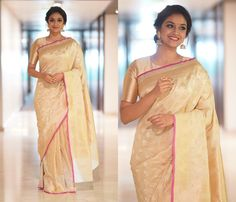 keerthy suresh in sarees 2018 Latest Blouse Patterns, Designer Blouse Patterns, Blouse Designs, Sneha Saree, Kajol Saree, Kerala Saree, Indian Sarees, Indian Dresses, Indian Outfits