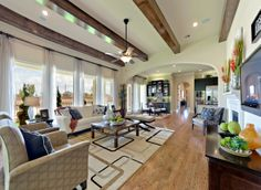#Livingroom with expansive #windows by Newman Village  Patio homes.