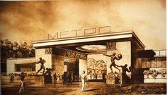 1934. Эскиз станции Сокольники.