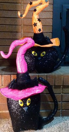 Halloween Witch Black Cat by UniqueThingamajigs