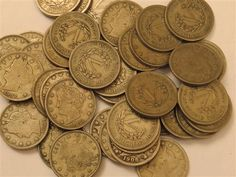 US Liberty Head V Five Cent Nickel Coin Lot of 40  Featured in the US Coins Auction on July 25, 2013 HamptonAuction.com