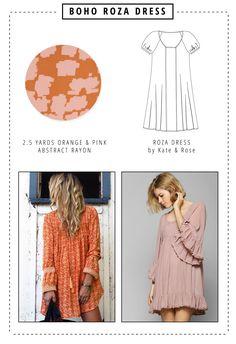 DIY Boho Fashion | Roza Dress Sewing Pattern
