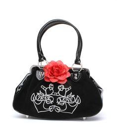 Lux de Ville Lucky Me Anchor Kiss Lock Shoulder Bag