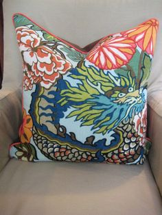 Pair of Chaing Mai pillows by sewhipandhumble on Etsy, $180.00