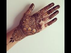 Simple Henna Design - YouTube