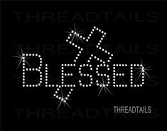 Blessed Tshirt with Cross.  Rhinestone Bling by Threadtails, $14.00