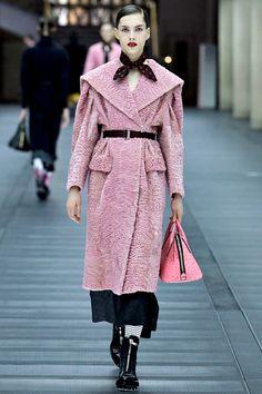 Fur Pink Coat #Fashion#Trend forFall Winter 2013 I Miu Miu #Fall2013 #trendy #pink #coat