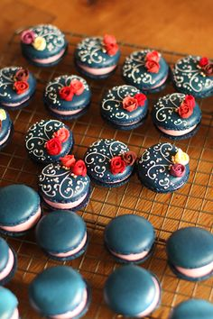 Dainty and beautiful. Hand piped macarons. Amazing!