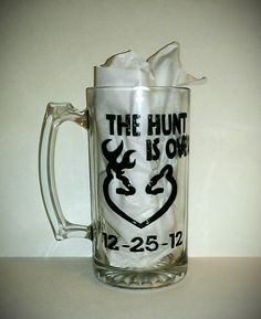 The Hunt is Over Painted Glassware by kraftymamaboutique on Etsy, $16.00