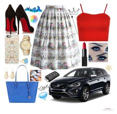""""""""""" by giuliacarolline ❤ liked on Polyvore featuring Chicwish, WearAll, Monday, NARS Cosmetics, Christian Louboutin, Casetify, MICHAEL Michael Kors, Michael Kors, Charlotte Russe and Accessorize"""
