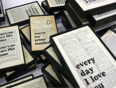 """""""I think that using old book pages creates a connection between my customers and my products. Diy Old Books, Recycled Books, Book Page Crafts, Geek Crafts, Diy Crafts, Job, Old Book Pages, Think, Reality Check"""