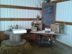 Country Wedding Dessert Table