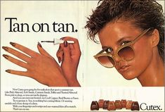 Vintage Cutex nail polish ad from a magazine. Retro Makeup, Vintage Makeup, Love Makeup, Vintage Beauty, Makeup Ads, Vintage Glamour, Petite Fashion Tips, Fashion Tips For Women, 1980s Nails