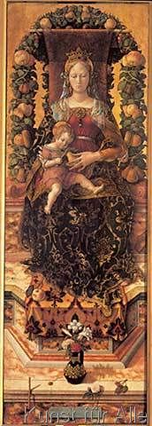 Carlo Crivelli - Enthroned Madonna and Child