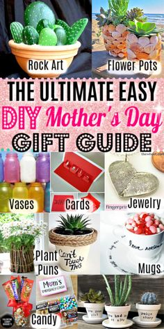 Easy DIY Mother's Day craft gifts kids can make. Great budget mother's day cards, gifts, and kids crafts ideas Mom can use for the home and garden. # Easy DIY cards The Ultimate Guide To Easy DIY Mother's Day Gift Ideas Easy Diy Mother's Day Gifts, Diy Father's Day Crafts, Diy Gifts For Mothers, Crafts For Teens To Make, Diy Gifts For Kids, Mother's Day Diy, Mothers Day Crafts, Gifts For Teens, Spring Crafts