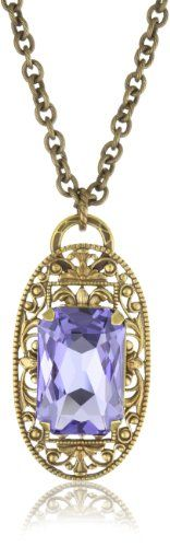 "Liz Palacios ""Arco Iris"" Swarovski Elements Crystal Filigree Pendant Necklace"