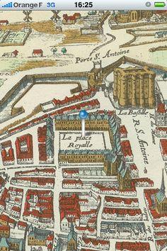 Paris historic map : Mérian 1615  By Henri Aguesse  iTunes app
