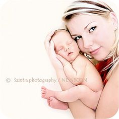 Mom and Newborn. Love this shot. It only shows your face, so you don't have to worry about how unflattering you will look after giving birth.
