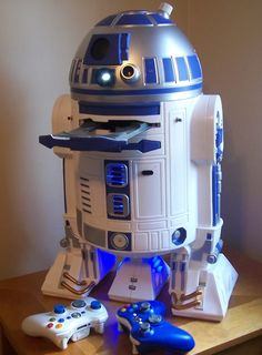 R2-D2 Xbox: well, these beats the actual R2-D2 branded Xbox. The real kicker would be if Kinect was built-in to R2's head.