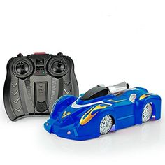 SZJJX RC Climbing Car Wall Climber 24Ghz Mini Spiderman Radio Remote Control Sport Racing Vehicle Mini Zero Gravity Stunt Car Kids Electric Toy Blue * Check this awesome product by going to the link at the image.