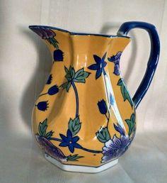 Chelsea art pottery pitcher jug flower