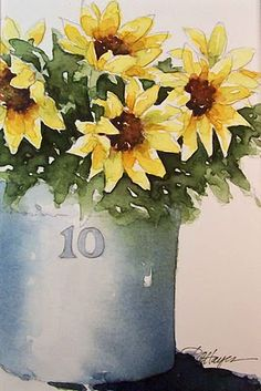 Pretty Sunflowers by RoseAnn Hayes