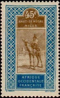 1914: Targui (צרפתיות, מושבות ושטחים) (Upper Senegal and Niger) Yt:FR-HS 29,Mi:FR-HS 29