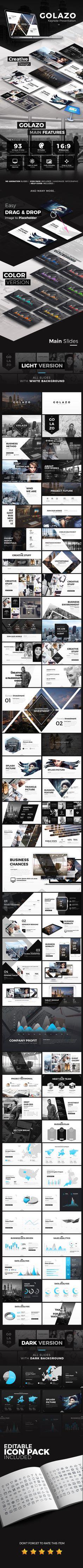 Flux Slides keynote Template | Keynote, Template and Ppt design