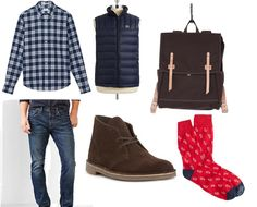 College guy style: An outfit for getting from the dorm to the student union, warm and in style, from Megan Collins of Style Girlfriend. http://www.stylegirlfriend.com/outfit-day-college-style/