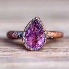 Amethyst Tear Drop and Copper Ring. Our Best Selling Ring. Made with Natural Amethyst Stone and recycled Copper. Beautifully hand crafted and Unique. Not one piece is the same. Bohemian Gypsy Jewellery by Indie and Harper Jewelry Box, Jewelry Accessories, Jewelry Necklaces, Fine Jewelry, Unique Jewelry, Silver Jewelry, Turquoise Jewelry, Jewlery, Handmade Jewelry