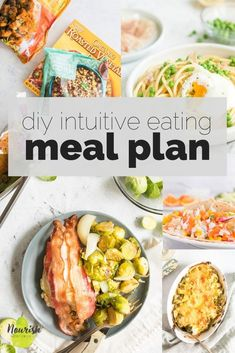 Create your own Intuitive Eating meal plan that fits within your schedule, your needs, and includes your favorite foods. No more restriction, feeling bad about food choices, and just easy delicious diners that empower you to eat great. #mealplan #recipesforone #cookingforone Clean Eating, Healthy Eating, Healthy Mind, Healthy Habits, Healthy Recipes, Intuitive Eating, Cooking On A Budget, Mindful Eating, Eating Plans