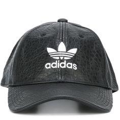 Adidas Originals logo hat ($34) ❤ liked on Polyvore featuring accessories, hats, black, adidas originals, logo hats and adidas originals hat