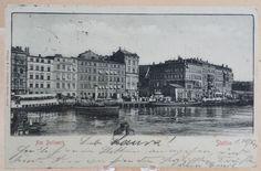 AK Stettin Am Bollwerk 1904 Pommern Hafen Schiffe Geschäfte