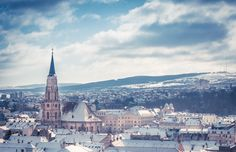 Snow and sunshine in Cluj-Napoca, by Adrian Ciorba on Paris Skyline, Sunshine, Places To Visit, Snow, City, Winter, Pictures, Travel, Projects