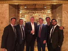 Nigel Farage meets Team Trump