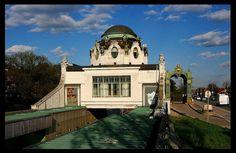 Hofpavillon. stadtbahn impérial pavillon [1898]- Hietzing    Architecte: Otto Wagner [1841-1918]