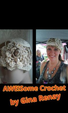 WENDY -- AweSome #Crochet by Gina Renay Designs #hat #oneofakind #pretty #unique #handmade #entrepreneurial My Stitch is like woah....