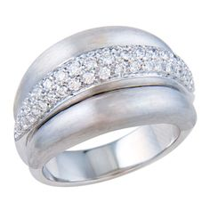 Damiani Diamond and White Gold Cocktail Ring   1stdibs.com