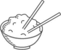 Bowl Rice Chopsticks Food Meal